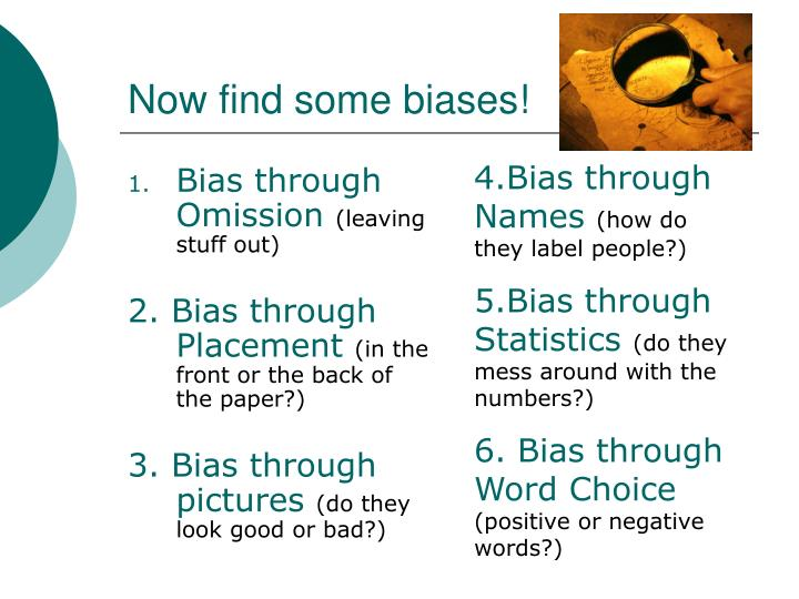 Now find some biases!