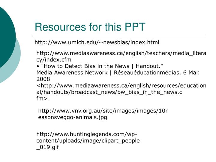 Resources for this PPT