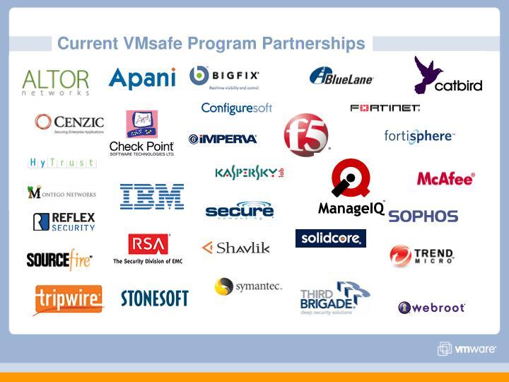 Current VMsafe Program Partnerships