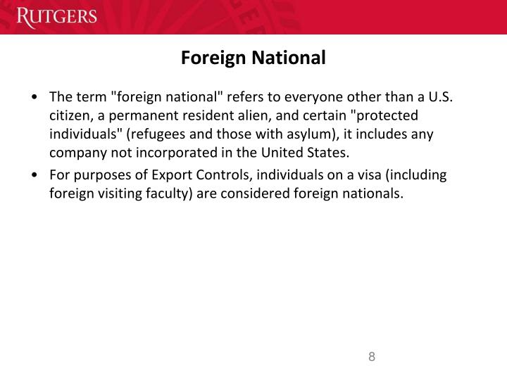 Foreign National