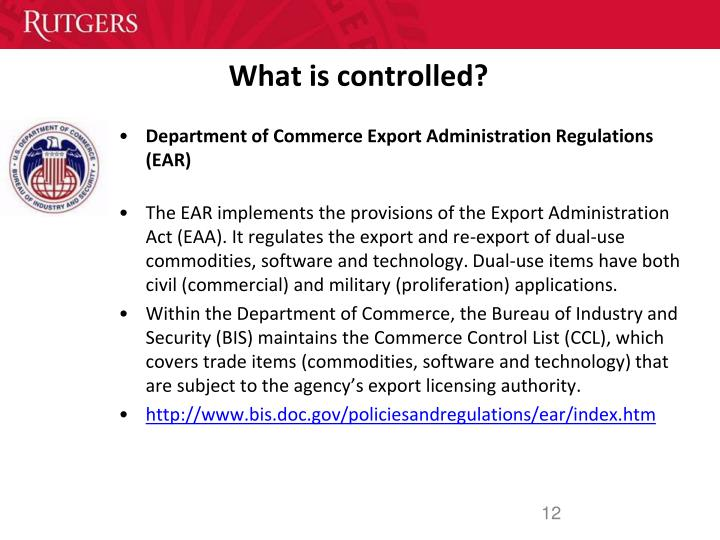What is controlled?