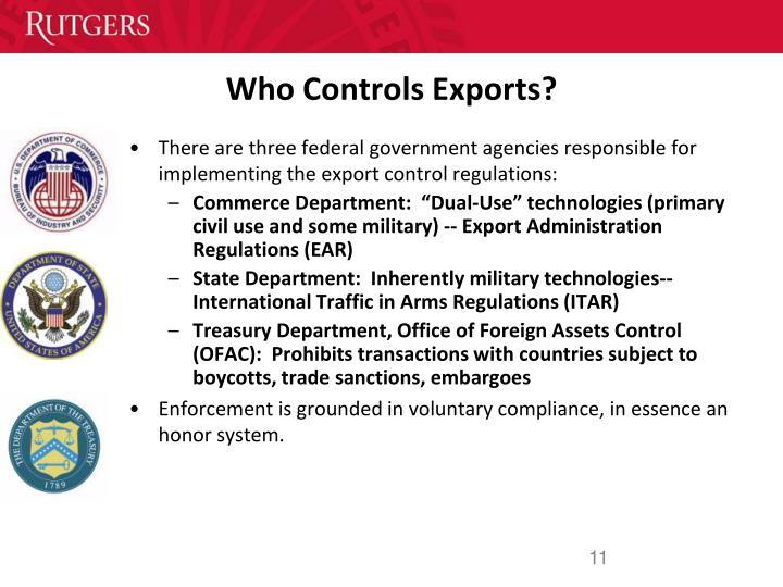 Who Controls Exports?