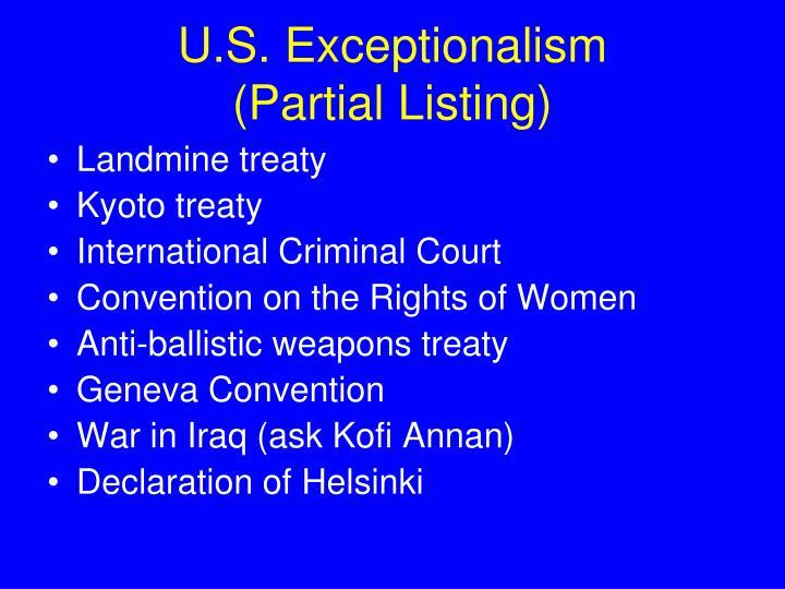 U.S. Exceptionalism