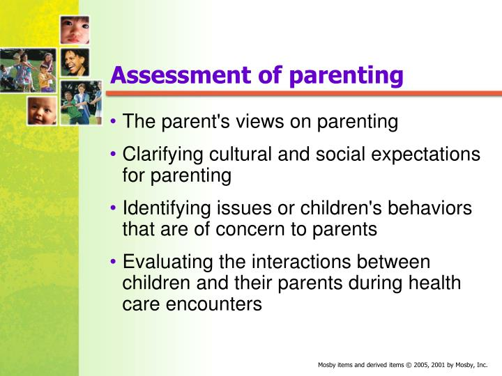 Assessment of parenting