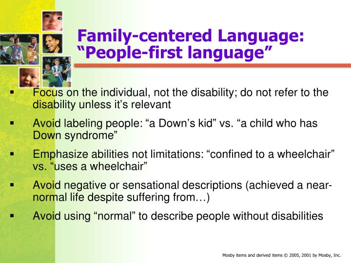Family-centered Language: