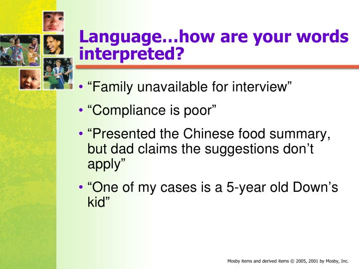 Language…how are your words interpreted?