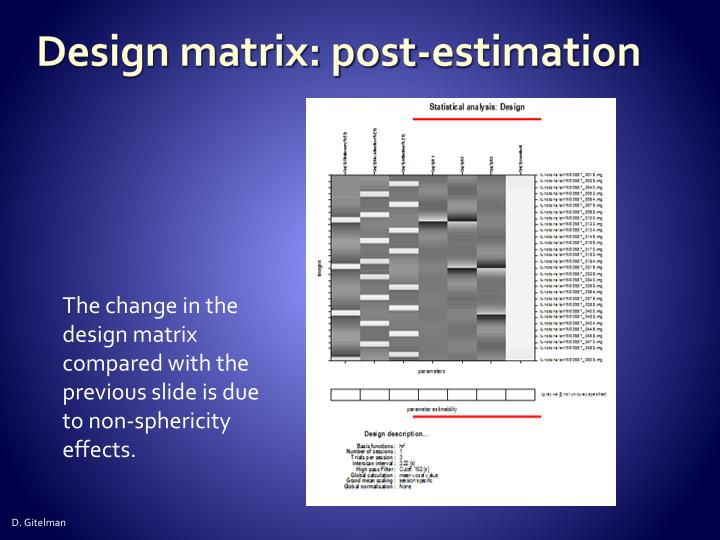 Design matrix: post-estimation