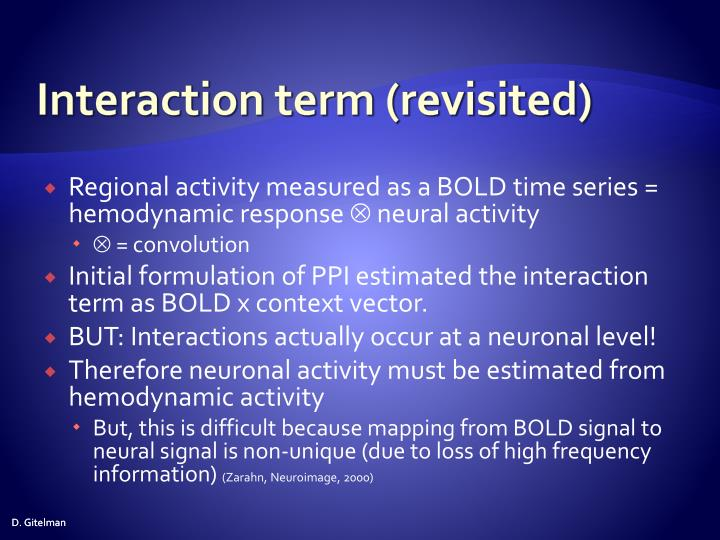 Interaction term (revisited)
