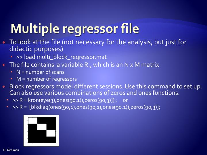 Multiple regressor file