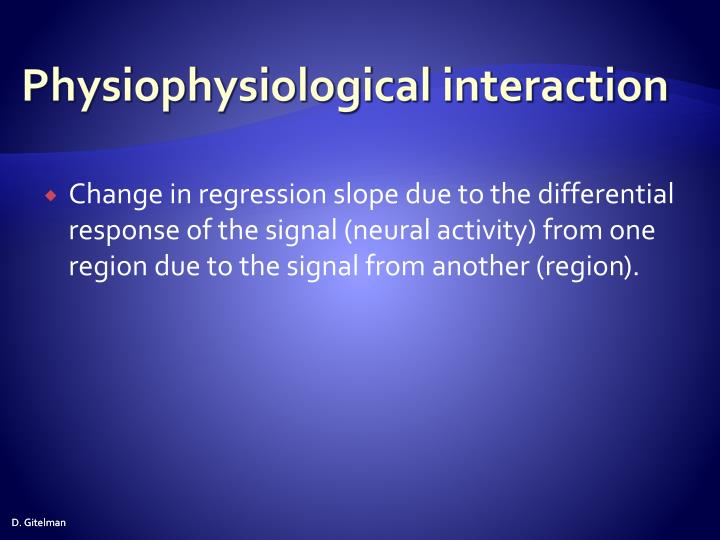 Physiophysiological