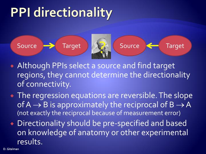 PPI directionality