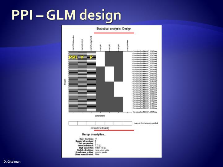 PPI – GLM design