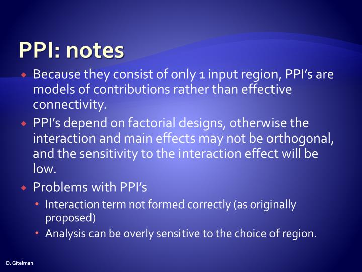 PPI: notes