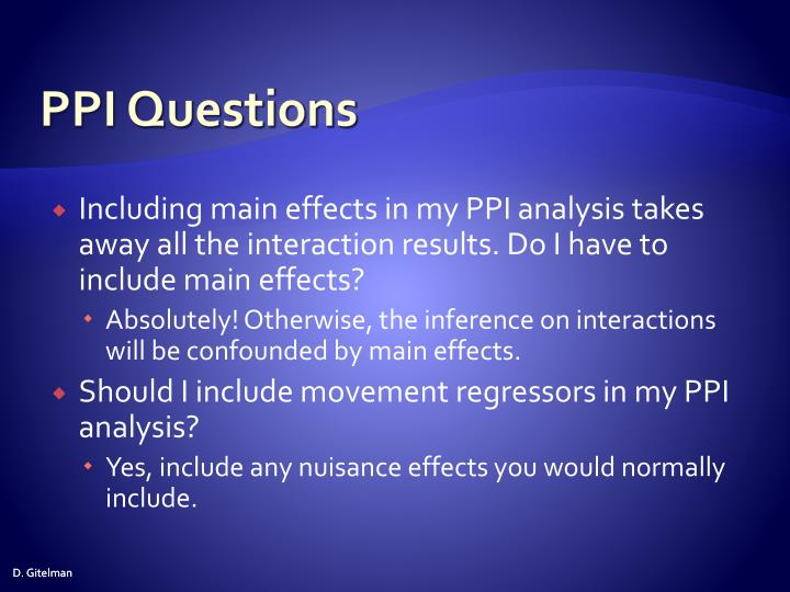 PPI Questions