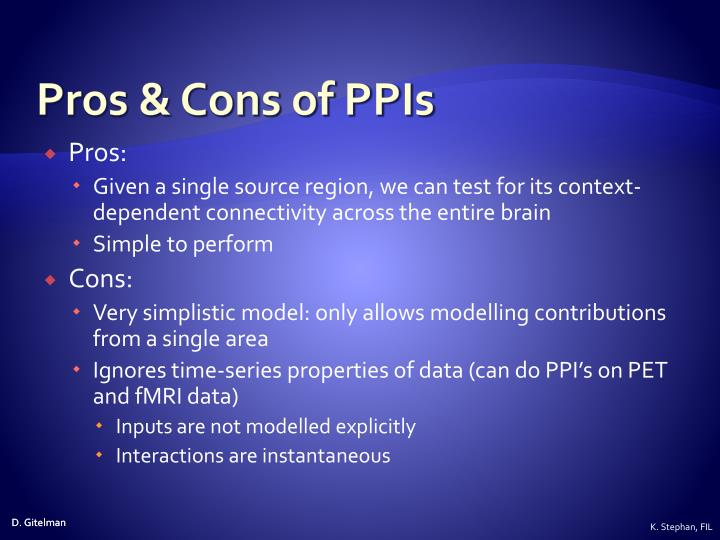 Pros & Cons of PPIs