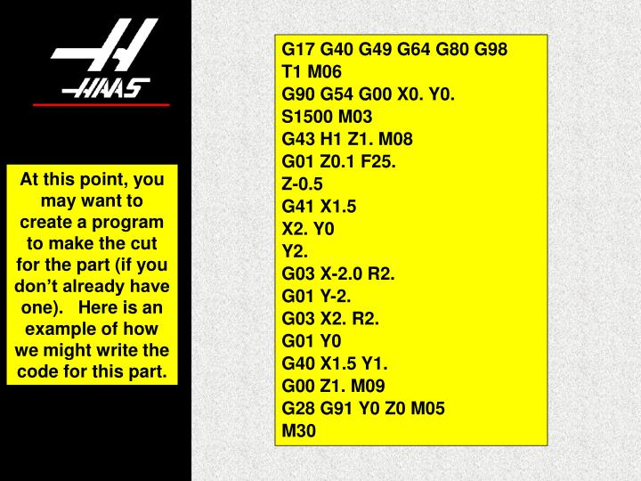 G17 G40 G49 G64 G80 G98