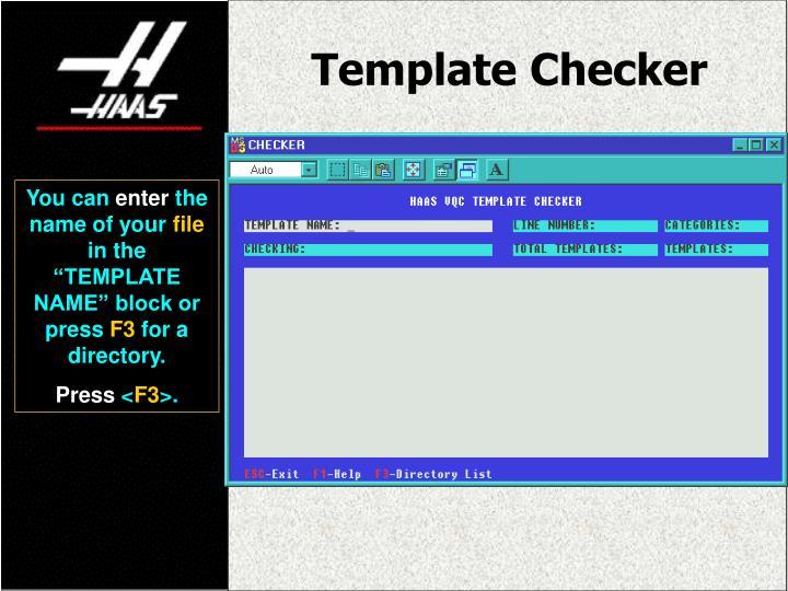 Template Checker