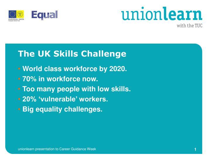 The UK Skills Challenge