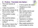 c pratica translate into italian1