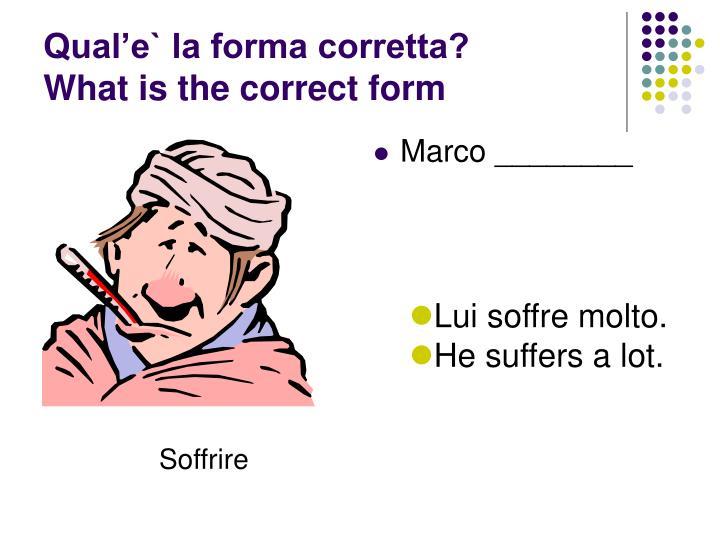 Qual'e` la forma corretta?