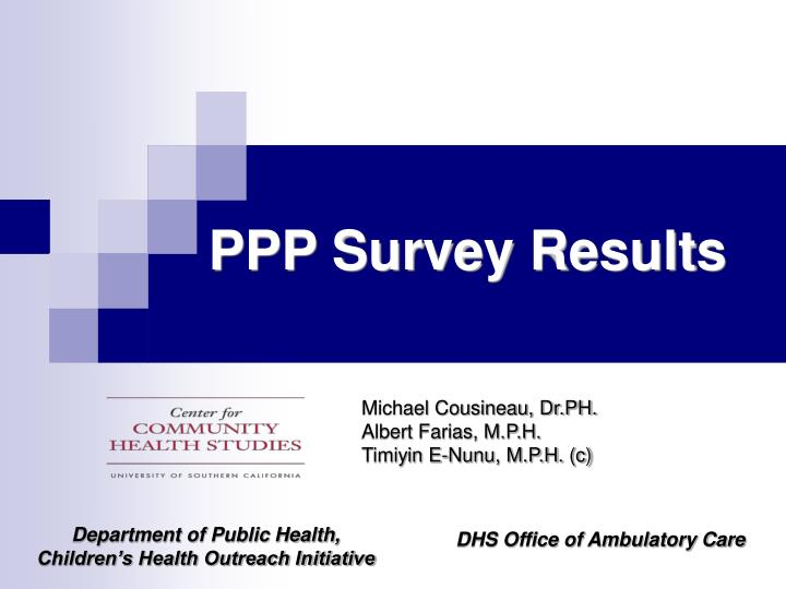 Ppp survey results