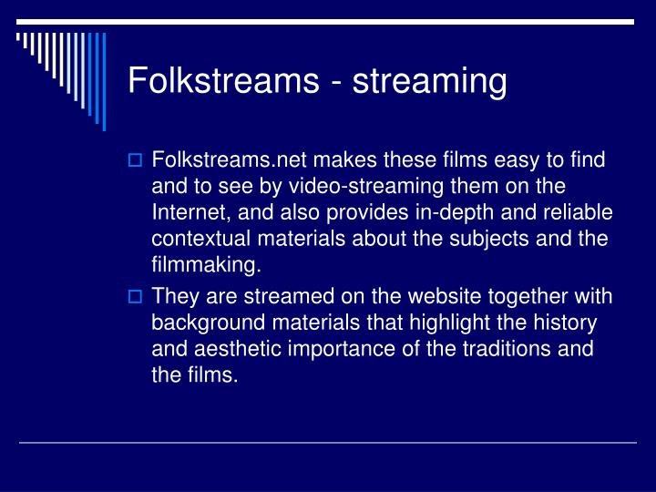 Folkstreams - streaming