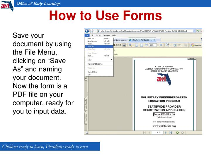 How to Use Forms