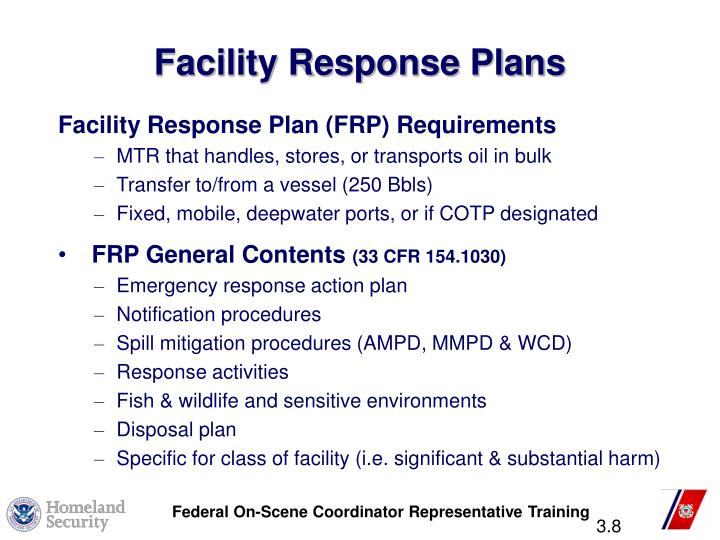 Facility Response Plans