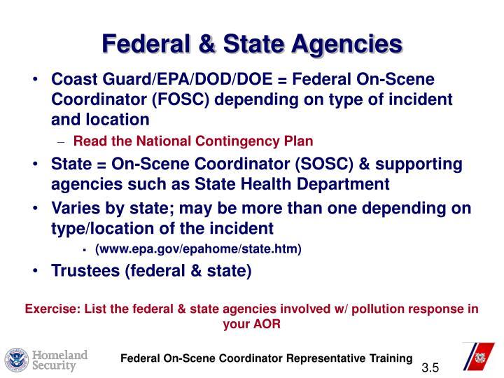 Federal & State Agencies