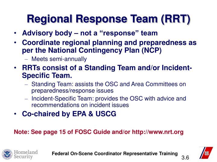Regional Response Team (RRT)