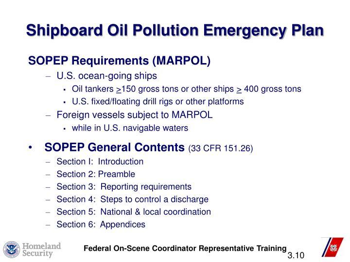 Shipboard Oil Pollution Emergency Plan