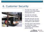 6 customer security