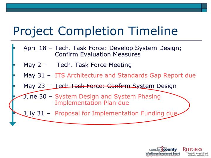 Project Completion Timeline