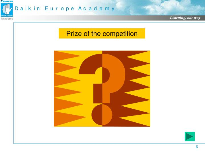 Prize of the competition