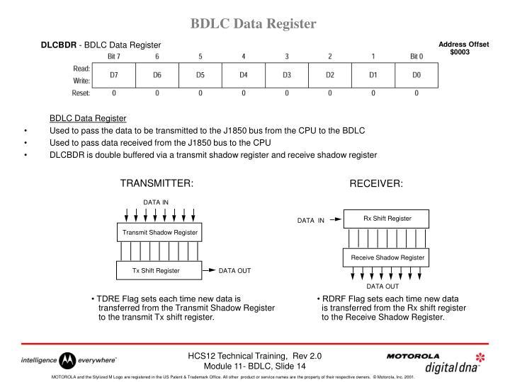 BDLC Data Register