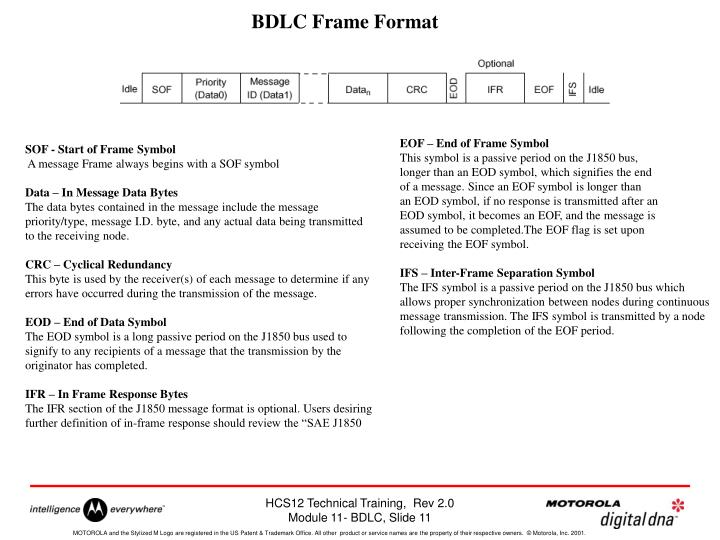 BDLC Frame Format