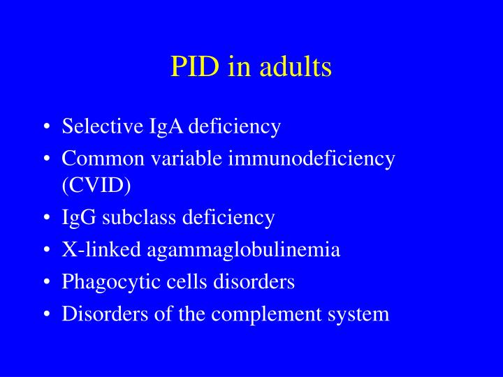 PID in adults