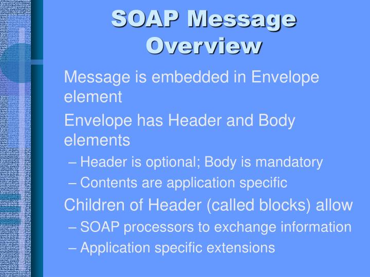 SOAP Message Overview