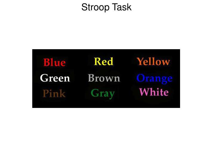 Stroop Task