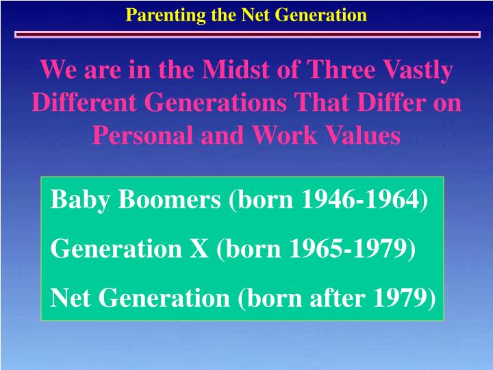 We are in the Midst of Three Vastly Different Generations That Differ on Personal and Work Values