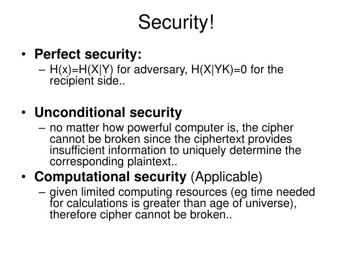 Security!