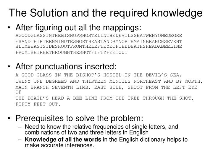 The Solution and the required knowledge