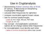 use in cryptanalysis