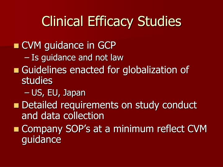 Clinical Efficacy Studies