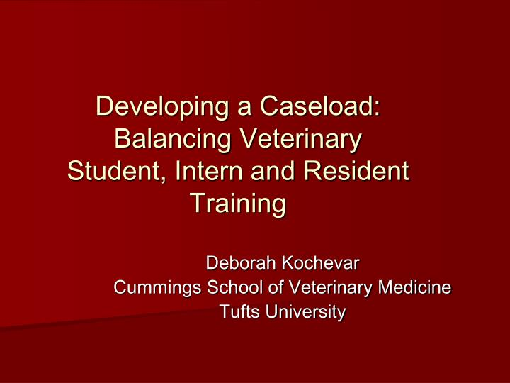 Developing a Caseload: