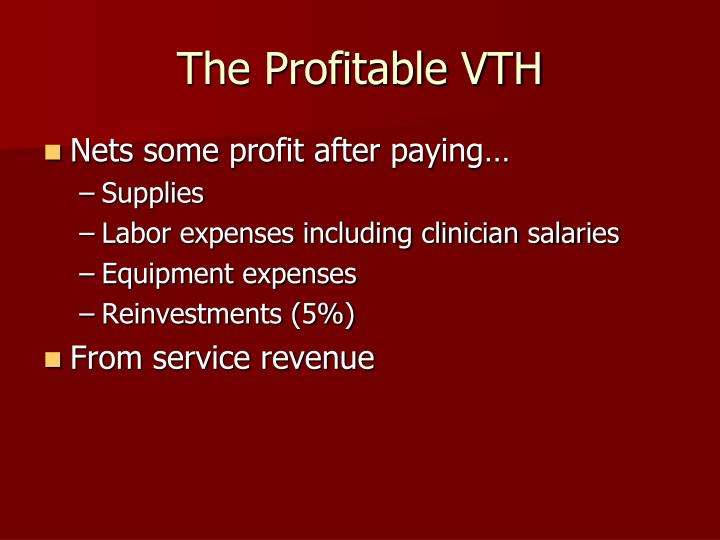 The Profitable VTH