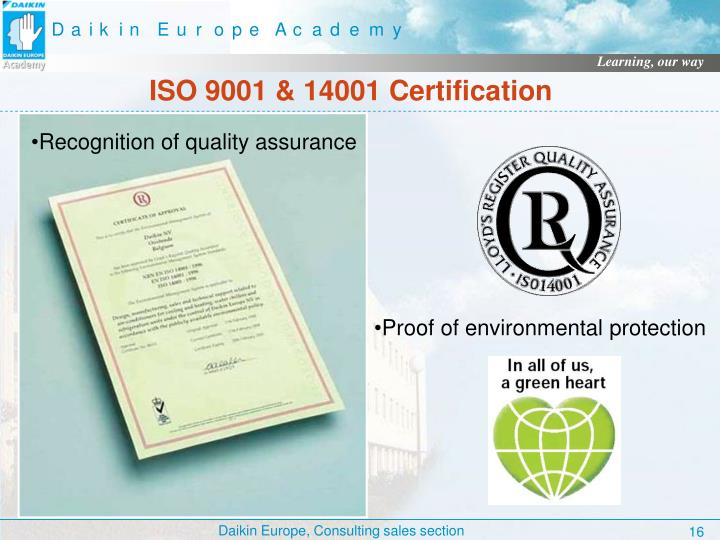 ISO 9001 & 14001 Certification