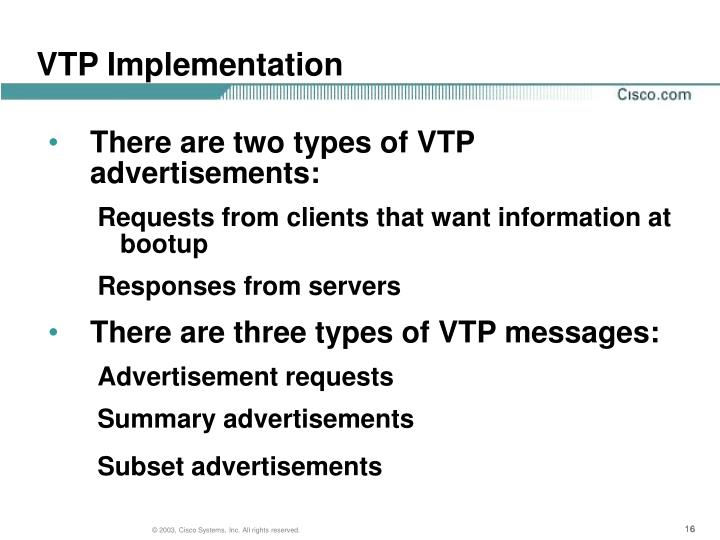VTP Implementation