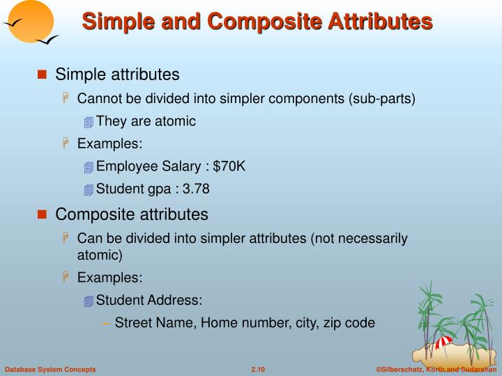 Simple and Composite Attributes