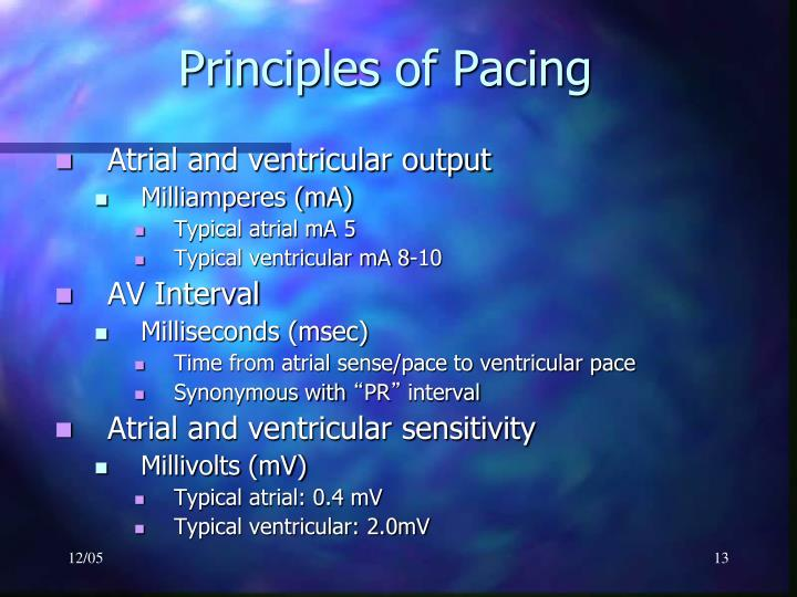 Principles of Pacing